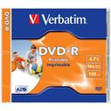 Picture of Verbatim DVD-R 16X Printable 4.7GB each 43520